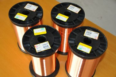 China Winding Enamelled Round Copper Wire AWG 42 - 43 Solderability NEMA Class 200 usine