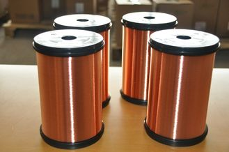 China Polyesterimide Enameled Copper Wire Insulated Type For Transformers / Motors usine