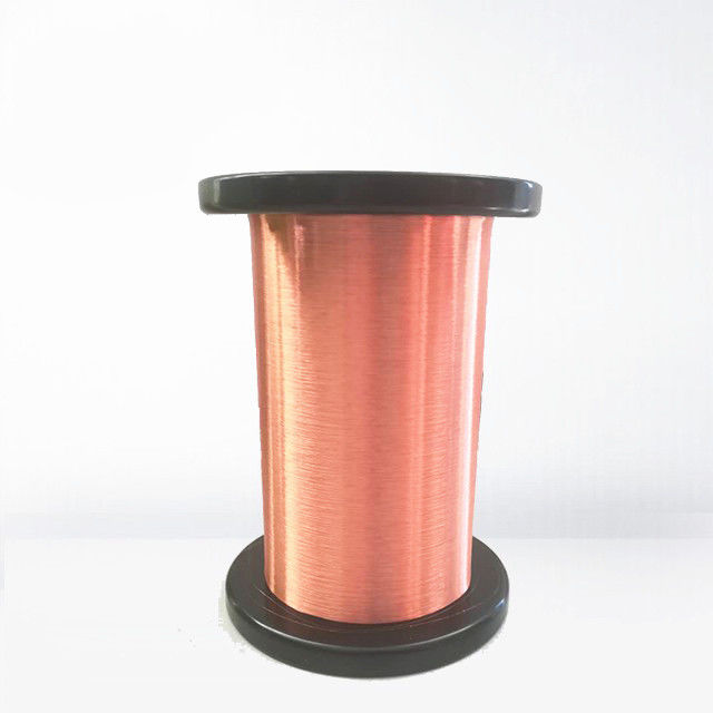 Awg 48 G1 Class 155 Ultra Fine Copper Wire Enamel / Copper Magnet Wire With Iec Standard