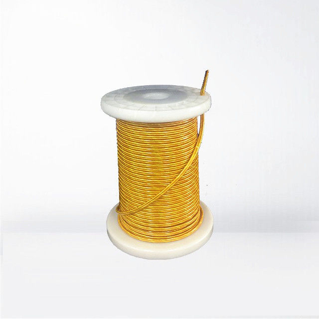 Taped Silk Covered Copper Litz Wire 0.05 X 1200 X 2mm Enameled Insulated Wire 2400 Strands