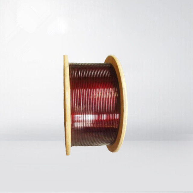 0.02 - 1.8mm Ultra Fine Rectangular Copper Enamelled Winding Wire Flat Self Bonding Wire For Winding