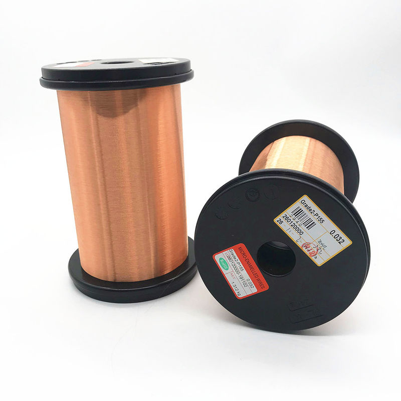 Solid 0.045mm Ultrafine Copper Enameled Magnet Wire